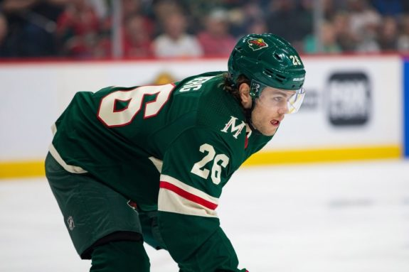 Wild forward Pontus Aberg