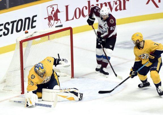 Colorado Avalanche Gabriel Landeskog Nathan MacKinnon Nashville Predators Pekka Rinne