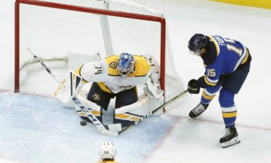 Blues Bury Predators - Saros Chased, O'Reilly & Schenn Score