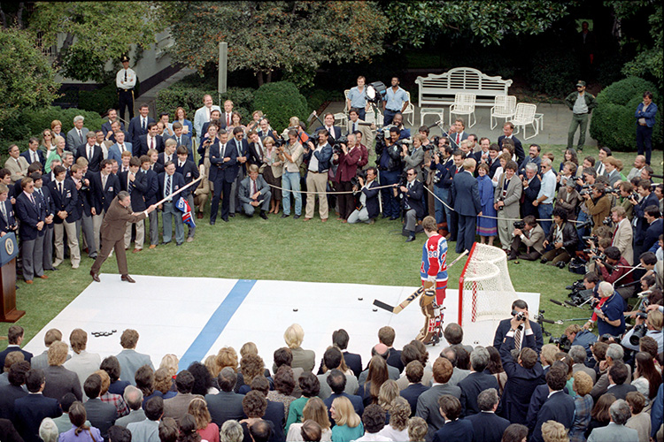 Washington Capitals, Ronald Reagan