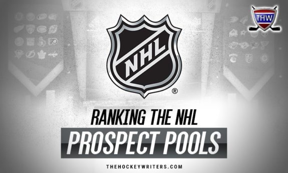NHL farm system rankings