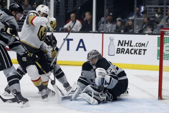 Los Angeles Kings Jonathan Quick Vegas Golden Knights Pierre-Edouard Bellemare
