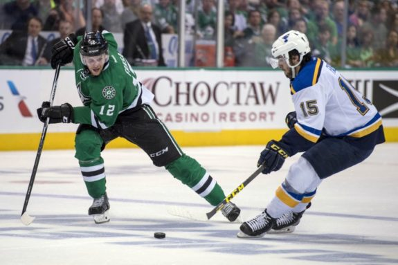 Dallas Stars center Radek Faksa in action against St. Louis. (Jerome Miron-USA TODAY Sports)