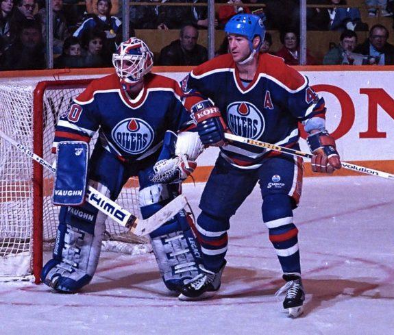 Kevin Lowe Bill Ranford Edmonton Oilers