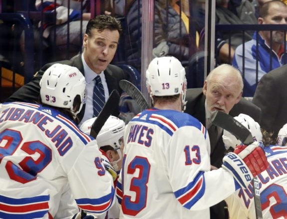 David Quinn, Lindy Ruff New York Rangers