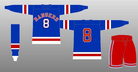 New York Rangers sweater logo 1946-47