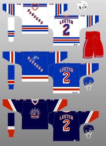 New York Rangers sweater logo 1997-98