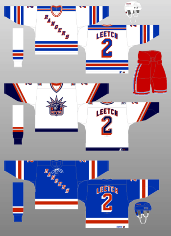 New York Rangers sweater logo 1998-99