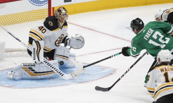 Boston Bruins Tuukka Rask Dallas Stars Radek Faksa