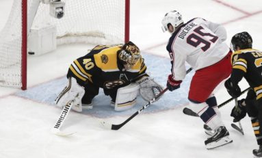 Blue Jackets Beat Bruins in Double OT to Tie Series
