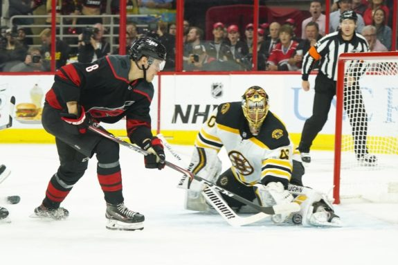 Boston Bruins Tuukka Rask Carolina Hurricanes Saku Maenalanen
