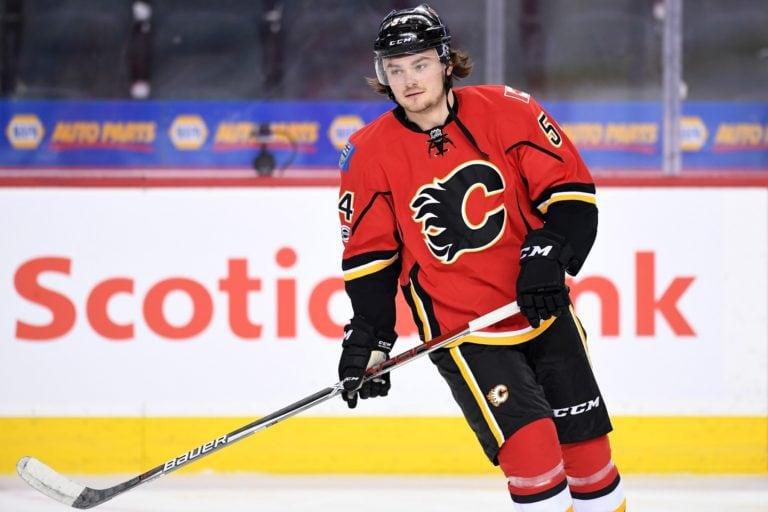 Flames defenseman Rasmus Andersson