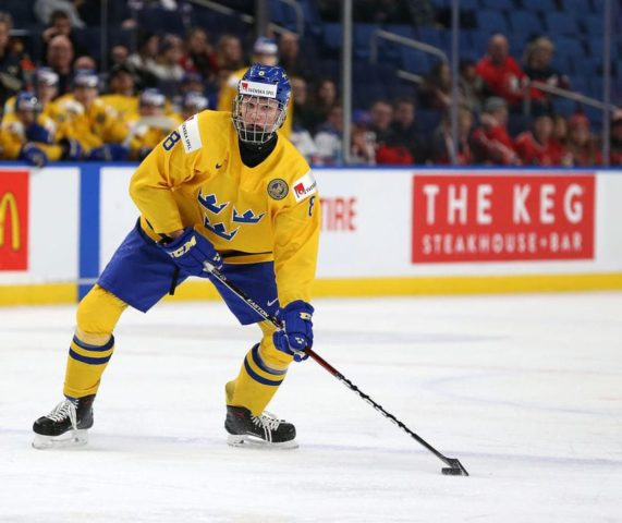 Rasmus Dahlin #8 of Sweden