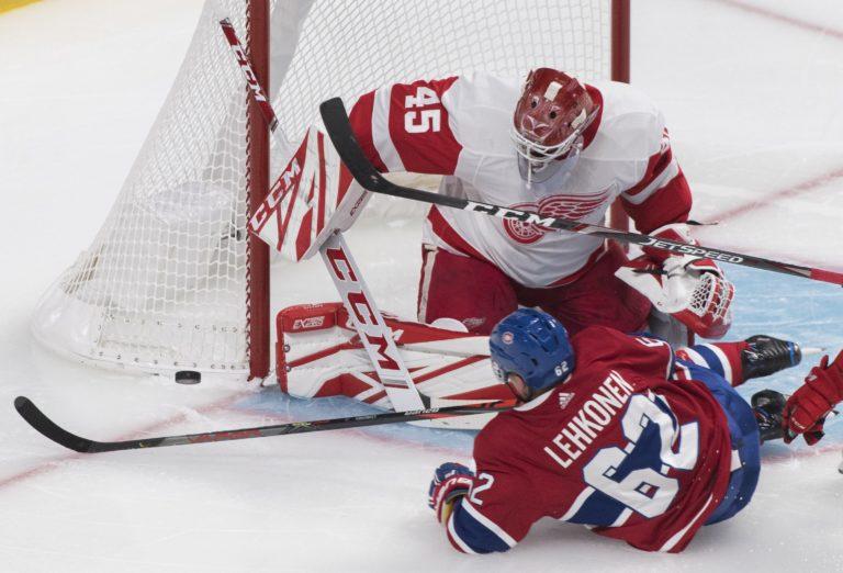 Montreal Canadiens Artturi Lehkonen Detroit Red Wings Jonathan Bernier