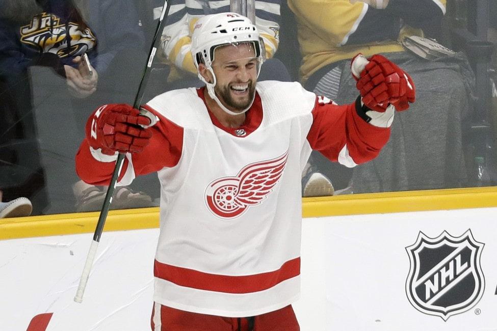 Detroit Red Wings Luke Glendening