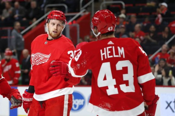 Detroit Red Wings Anthony Mantha Darren Helm