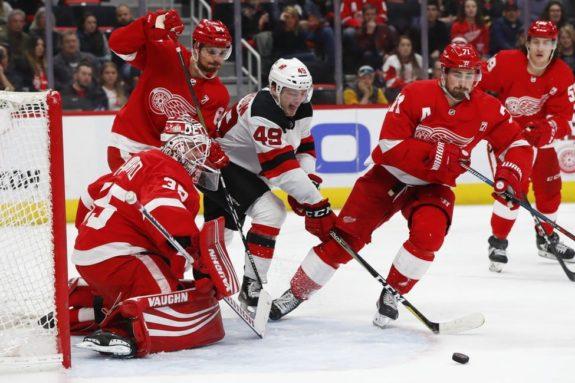 Detroit Red Wings Jimmy Howard New Jersey Devils Joey Anderson