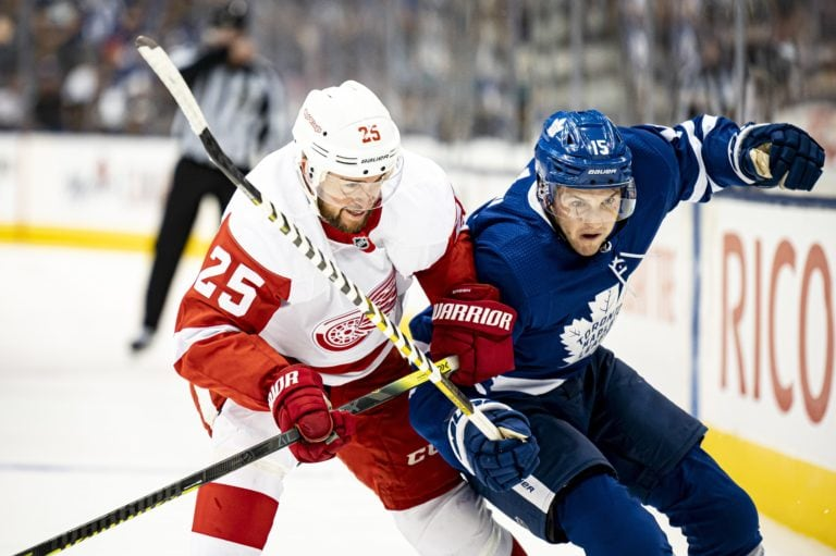 Toronto Maple Leafs Alexander Kerfoot Detroit Red Wings Mike Green