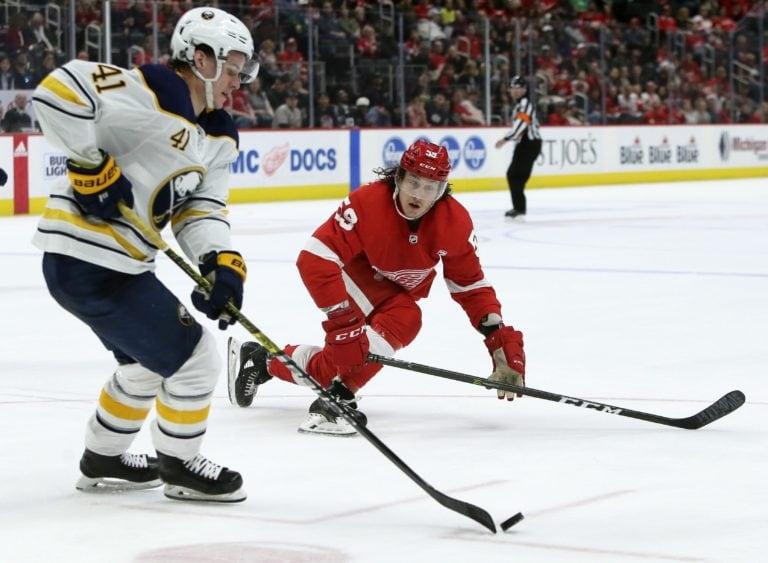 Detroit Red Wings Tyler Bertuzzi Buffalo Sabres Victor Olofsson