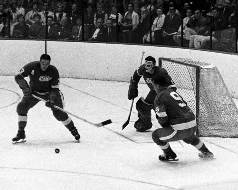 Marcel Pronovost Detroit Red Wings Terry Sawchuk Gordie Howe