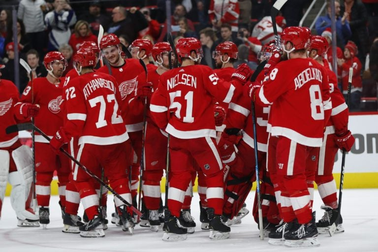 Detroit Red Wings celebrate