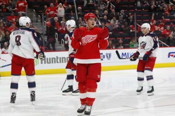 Gustav Nyquist of the Detroit Red Wings
