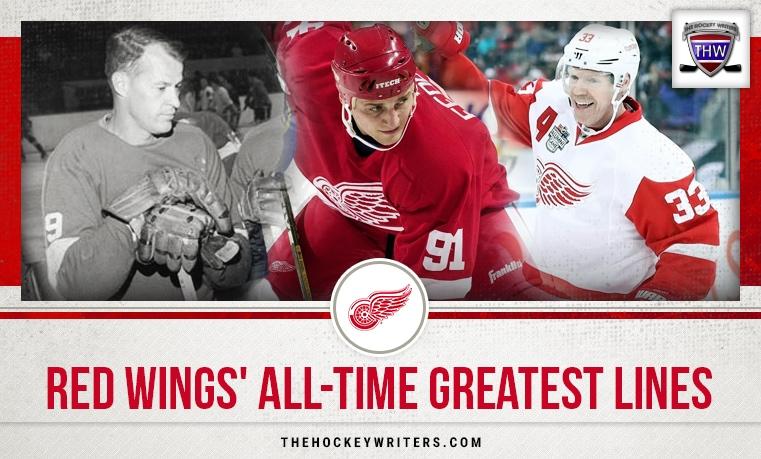 Detroit Red Wings' All-Time Greatest Lines Sergei Fedorov, Gordie Howe, and Kris Draper