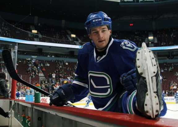 Rick Rypien #37 of the Vancouver Canucks