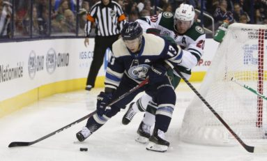 Riley Nash Notches Goal and Assist as Blue Jackets Beat Wild 4-2