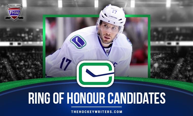 Vancouver Canucks Ring of Honour Candidates Ryan Kesler