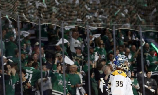 Stars Even Series With Predators - Rinne Pulled After 4 Goals on 8 Shots