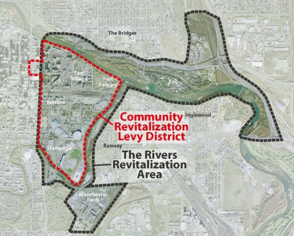 Rivers District Revitalization Area Calgary