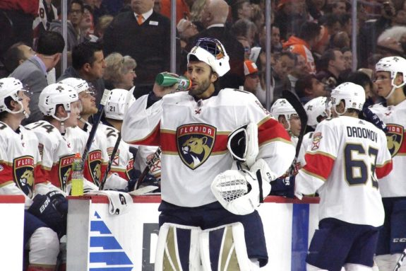 Florida Panthers goalie Roberto Luongo