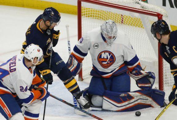 Buffalo Sabres Jason Pominville New York Islanders Robin Lehner