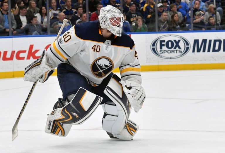 Buffalo Sabres goalie Robin Lehner