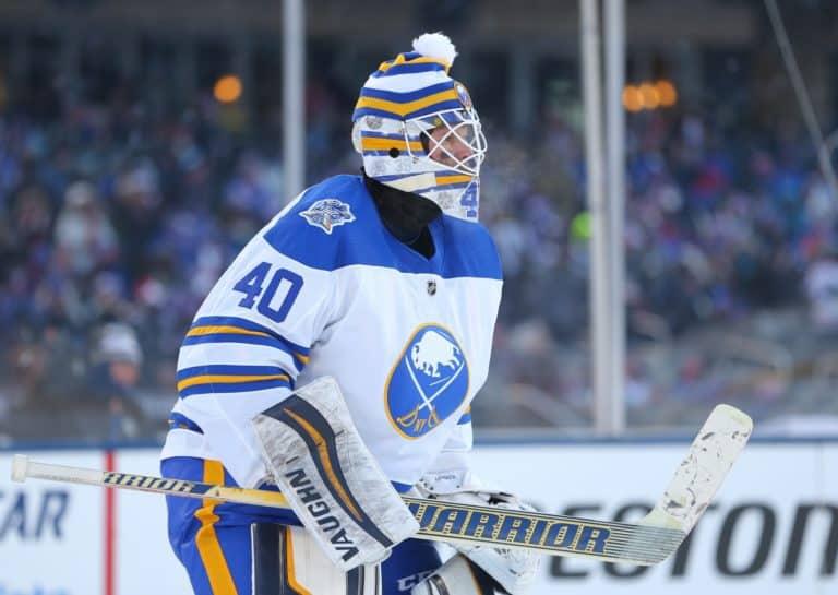 Buffalo Sabres goaltender Robin Lehner