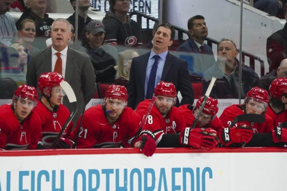 Rod Brind'Amour Carolina Hurricanes bench