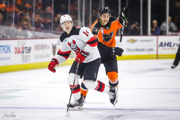 German Rubtsov Lehigh Valley Phantoms Joey Anderson Binghamton Devils