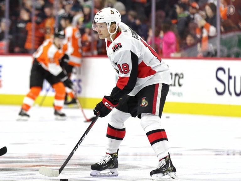 Ryan Dzingel #18, Ottawa Senators