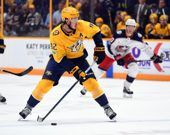 Nashville Predators forward Ryan Johansen