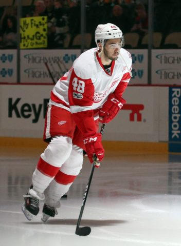 Red Wings defenseman Ryan Sproul