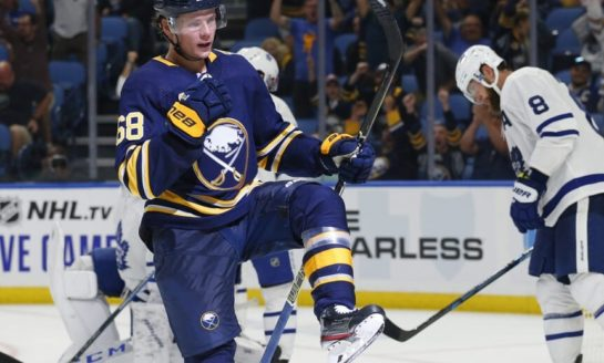Sabres Rookie Olofsson Sets NHL Power-Play Goal Record