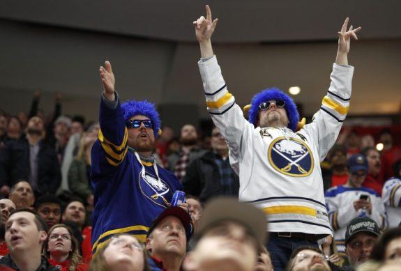 Buffalo Sabres fans celebrate