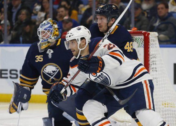 Buffalo Sabres Matt Hunwick Edmonton Oilers Tobias Rieder