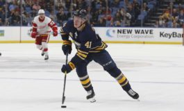 Olofsson Scores 2 in Sabres Home-Opening 7-2 Win over Devils