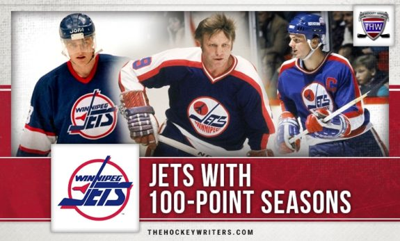 Bobby Hull Winnipeg Jets Dale Hawerchuk, and Teemu Selanne 100 point seasons