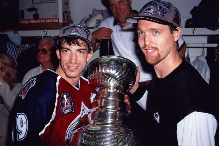 Joe Sakic Patrick Roy Colorado Avalanche