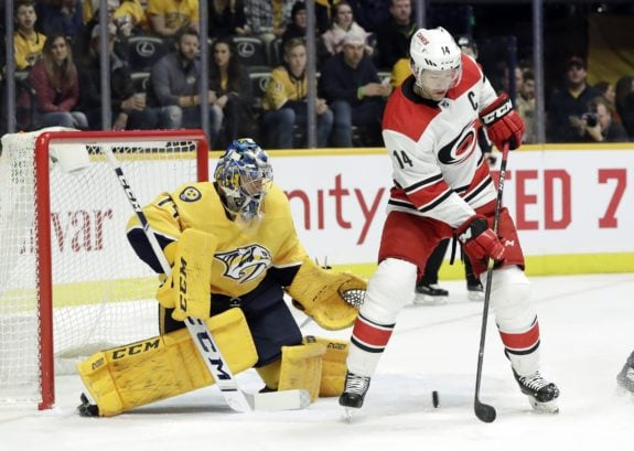 Juuse Saros, Justin Williams