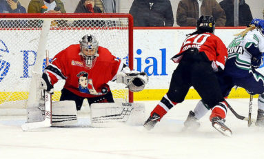 Sass & Richards Lead Riveters to First Home Win