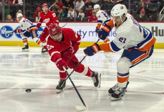 Detroit Red Wings Taro Hirose New York Islanders Luca Sbisa